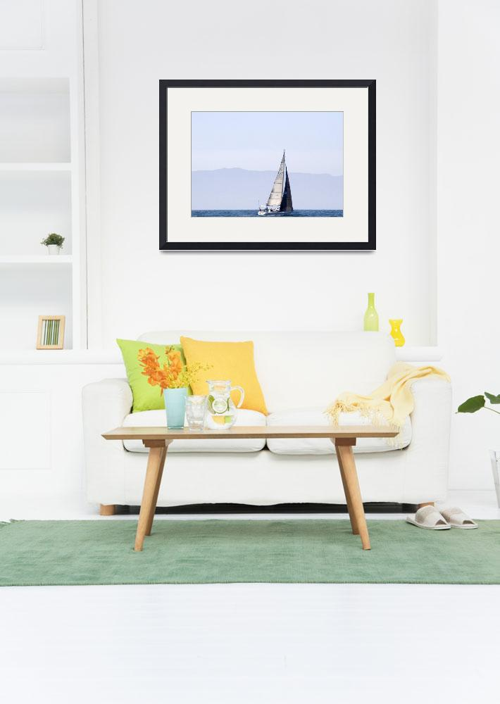 """""""Distant Sailboat&quot  by Eileen"""