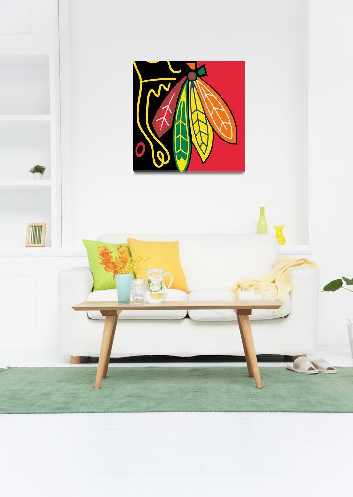 """""""Chicago Blackhawks""""  by RubinoFineArt"""
