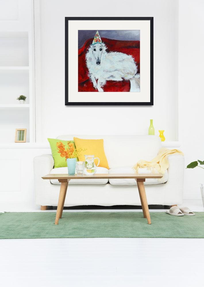 """""""Borzoi Tina  Original painting by Ginette Callaway&quot  (2003) by GinetteCallaway"""