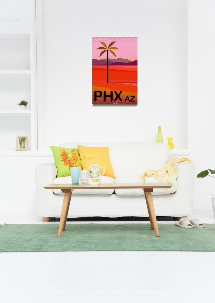 """Phoenix Arizona Travel Poster&quot  (2018) by charker"