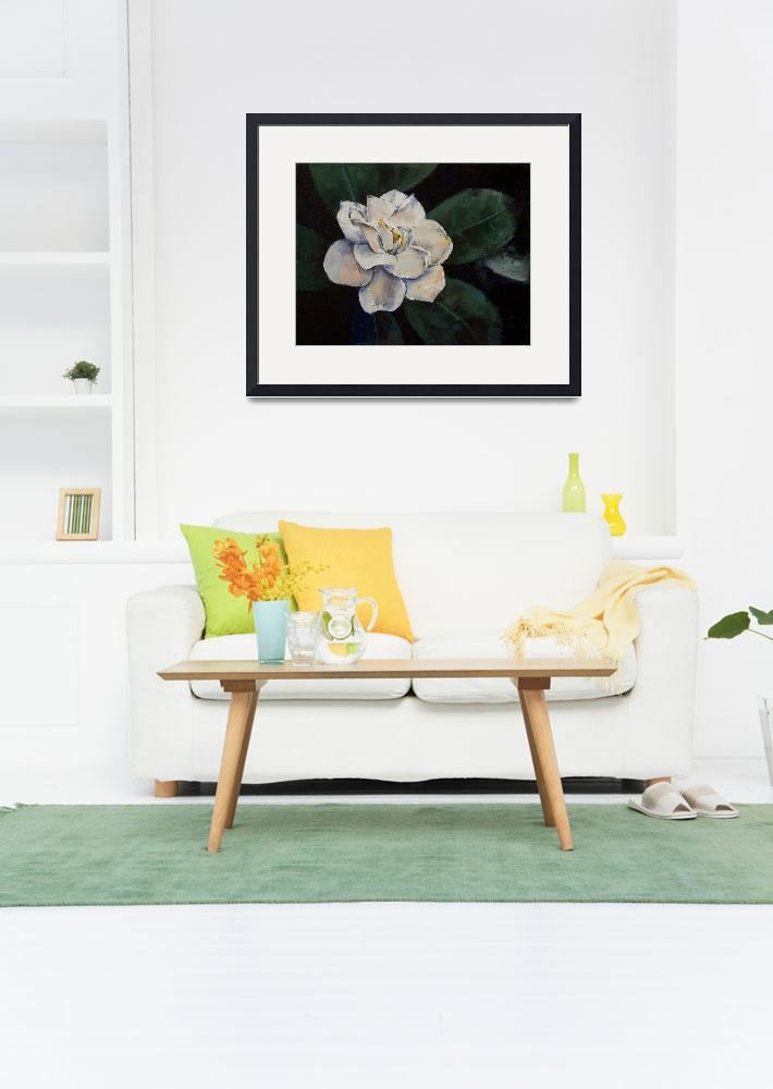 """""""Gardenia Oil Painting&quot  by creese"""