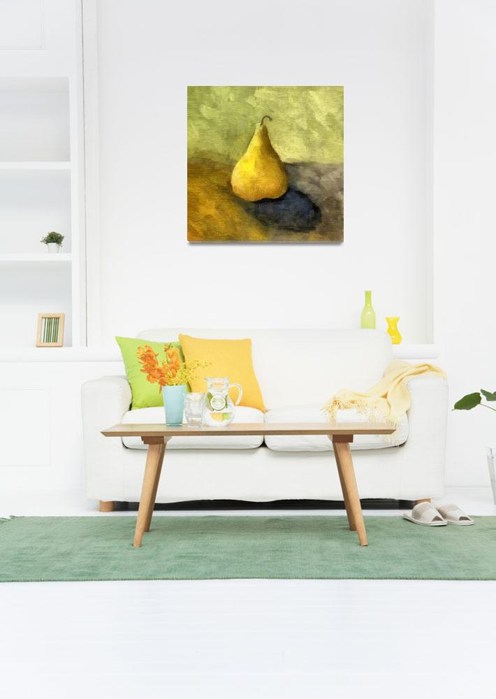 """Pear Still Life with Green and Brown""  (2007) by Michelle1991"