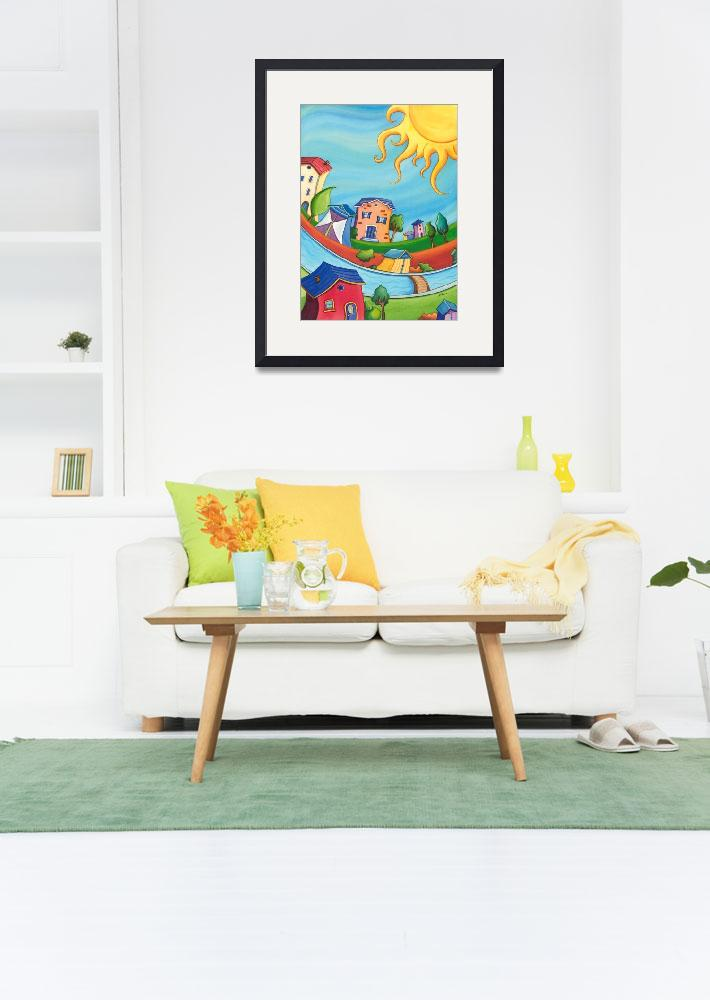 """""""Kids room Colorful Sunny houses&quot  (2012) by nopiepan"""