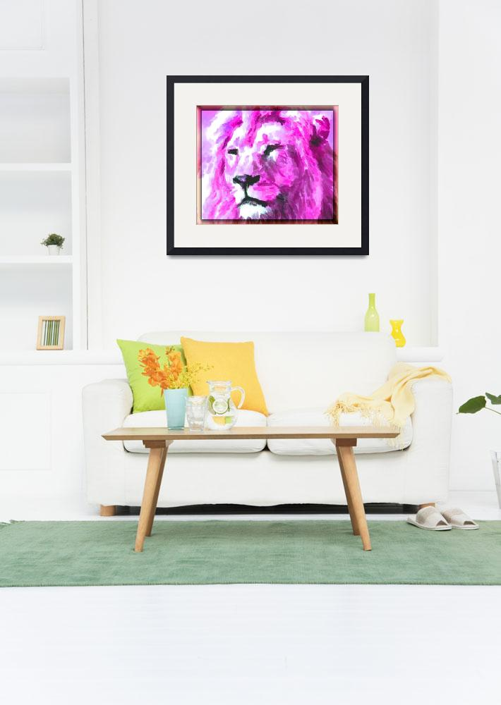 """""""Magenta Lion&quot  (2015) by KittyMisty"""