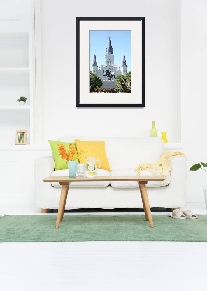 """""""St. Louis Cathedral from Jackson Square&quot  (2013) by robertmeyerslussier"""
