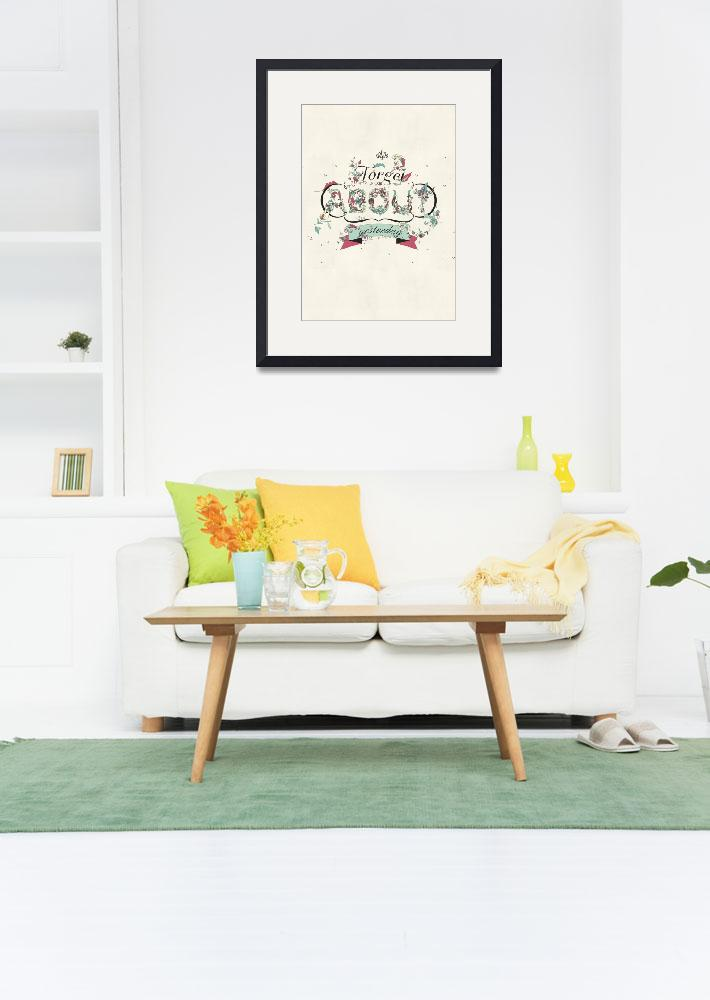 """""""A New Day Typography Art&quot  by artlicensing"""