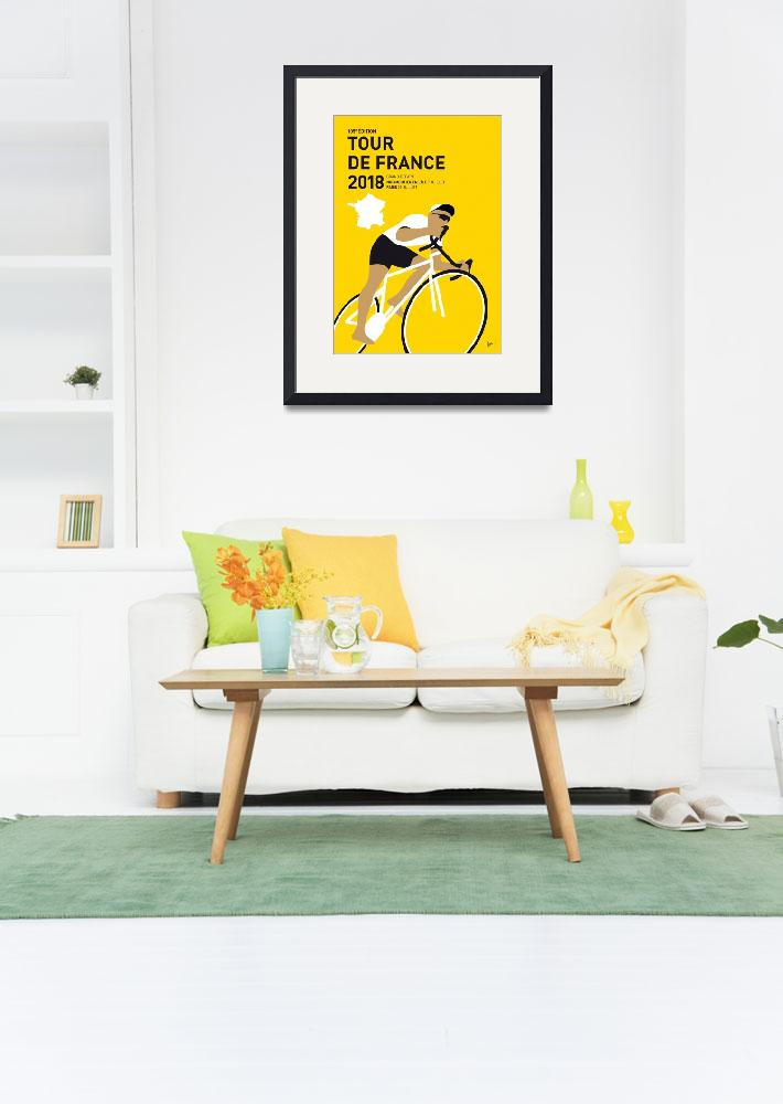 """""""MY TOUR DE FRANCE MINIMAL POSTER 2018&quot  by Chungkong"""