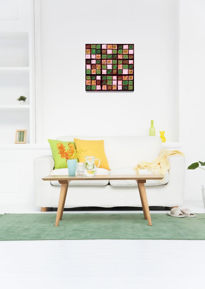 """Sudoku Abstract Brown Green&quot  (2012) by KsWorldArt"