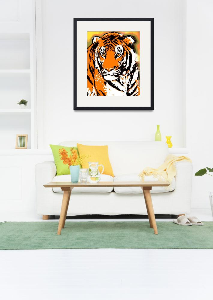 """""""TIGER-3 (LARGE)&quot  by thegriffinpassant"""