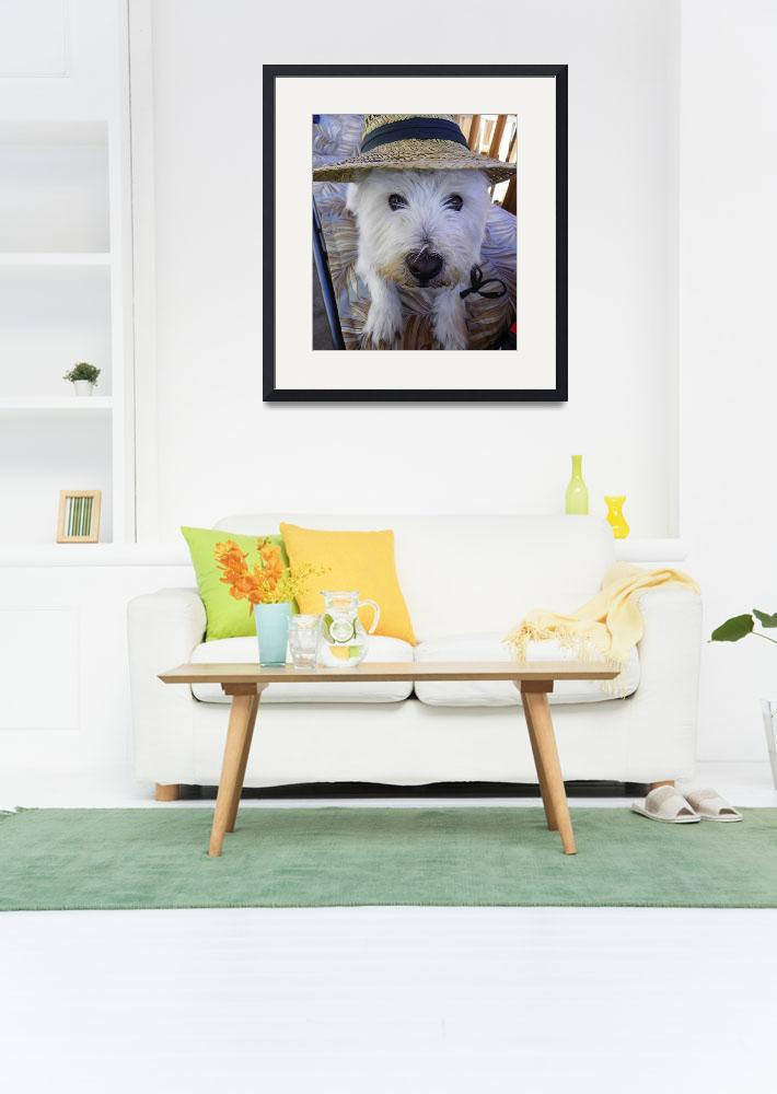 """""""On A Hot Summer Day - West Highland White Terrier&quot  by artsandi"""