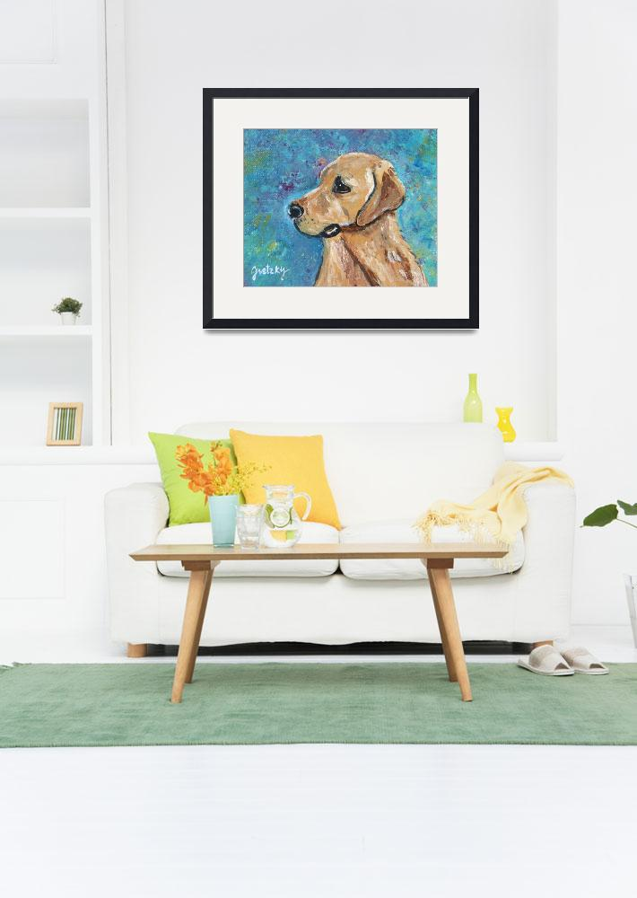 """""""Yellow Lab""""  (2011) by paintingsbygretzky"""