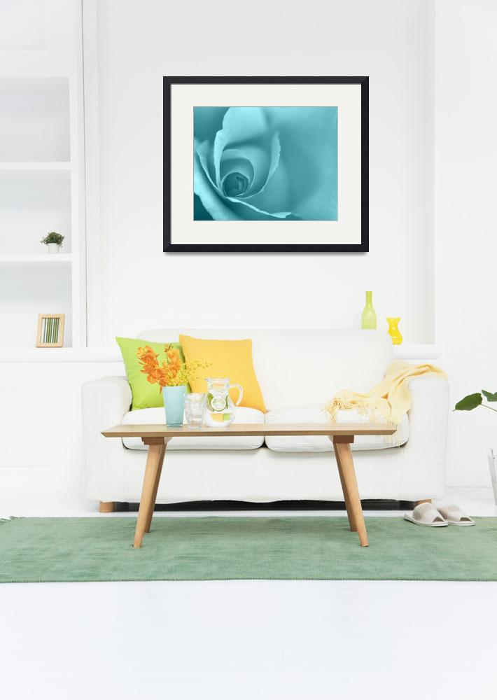 """""""Pale Turquoise Floral Wall Art&quot  (2012) by NatalieKinnear"""