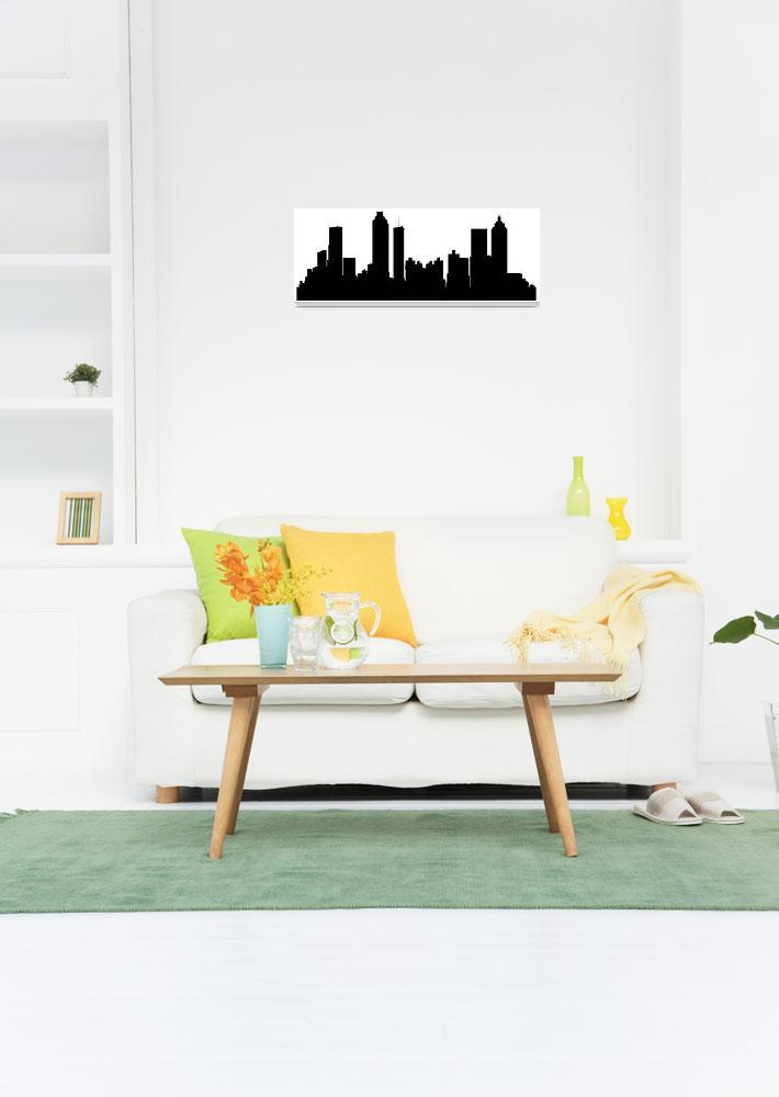 """Atlanta Cityscape Skyline""  (2015) by KWGart"