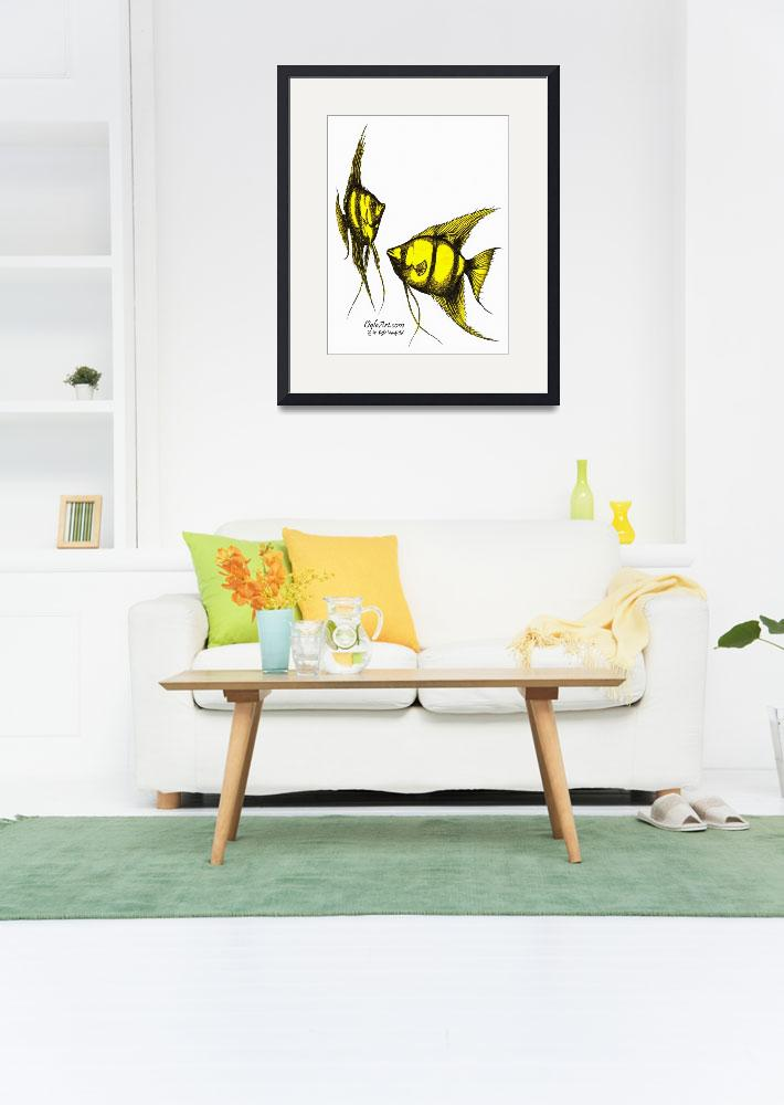 """AngelFish-yellow&quot  (1990) by OgleWarfield"
