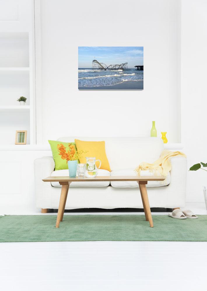 """Seaside Heights - Jet Star Roller Coaster in Ocean&quot  (2013) by JimNesterwitz"