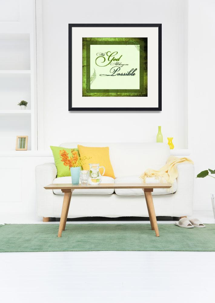 """""""with god frame green2""""  by lizmix"""