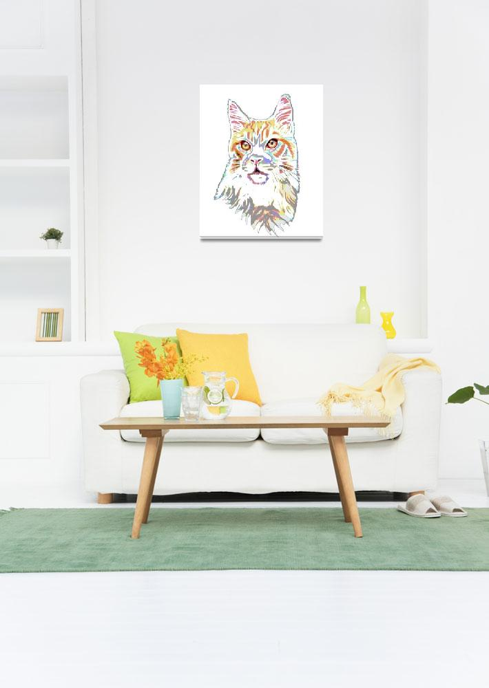 """""""Psychedelic Maine Coon""""  by bjasmine"""