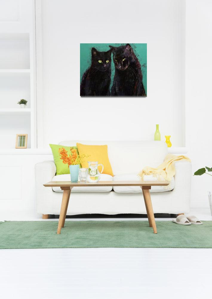 """""""Two Black Cats&quot  by creese"""