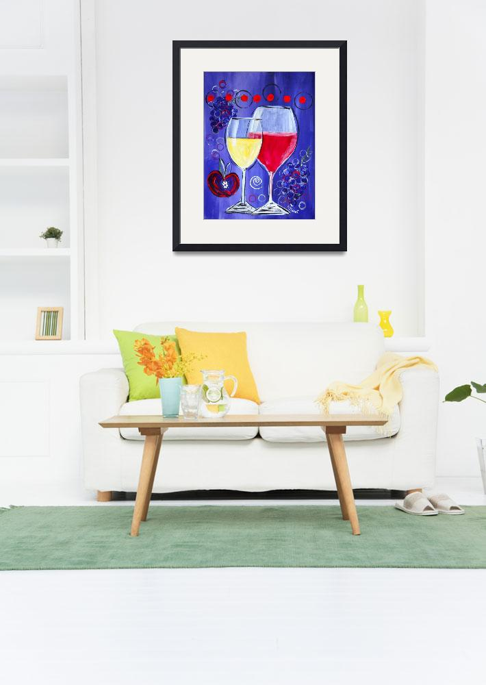 """""""Wine Time&quot  (2016) by MaggieBernet"""