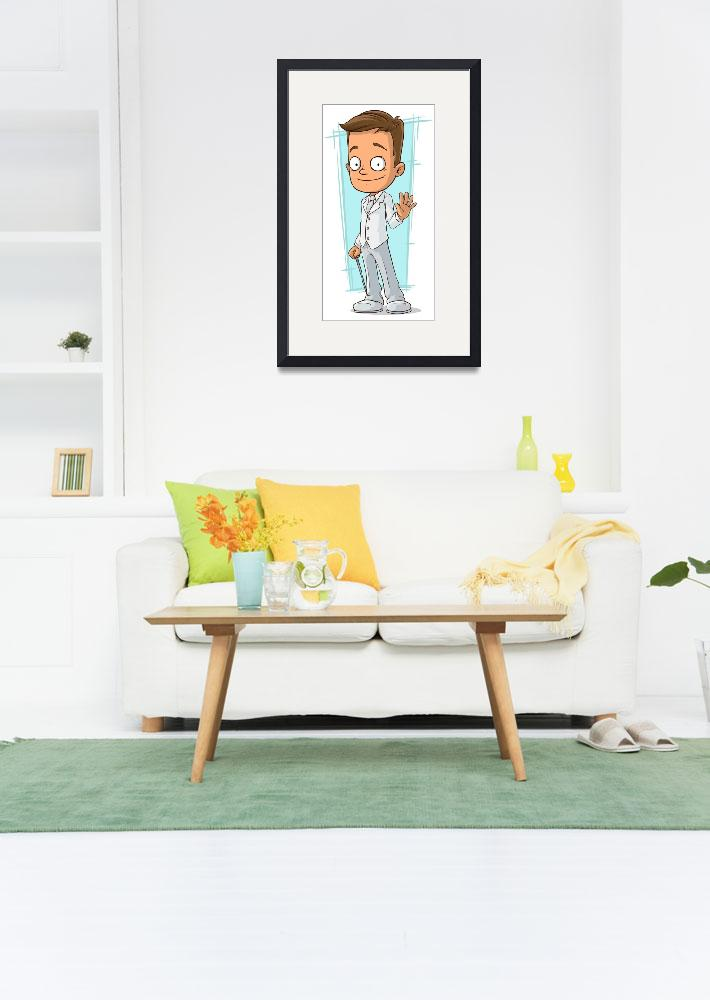 """""""Funny Character Framed Print&quot  by buddakats1"""