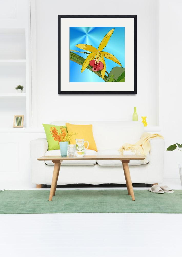 """""""Yellow Orchid""""  (2011) by Craftywillow"""