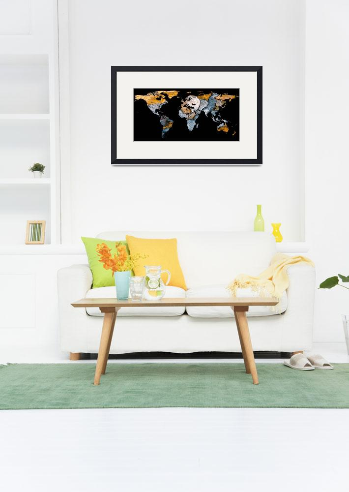 """""""World Map Silhouette - A Resting World""""  by Alleycatshirts"""