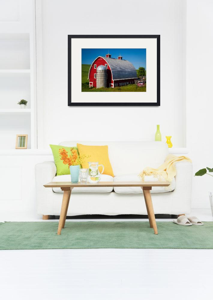 """""""Palouse Red Barn #1&quot  (2011) by Inge-Johnsson"""
