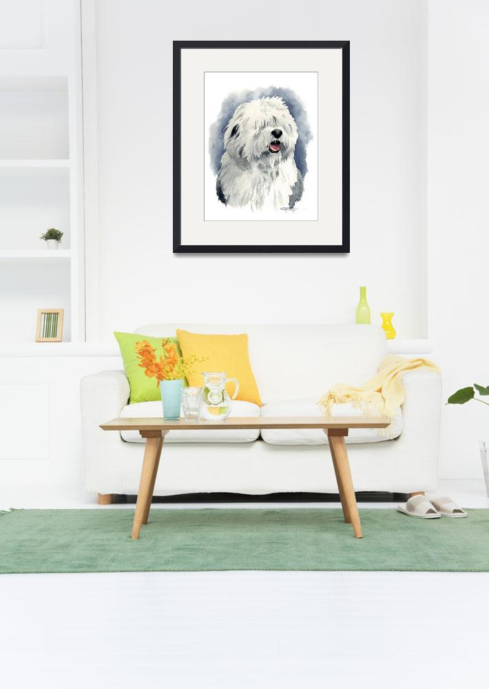 """""""Old English Sheepdog&quot  (2017) by k9artgallery"""