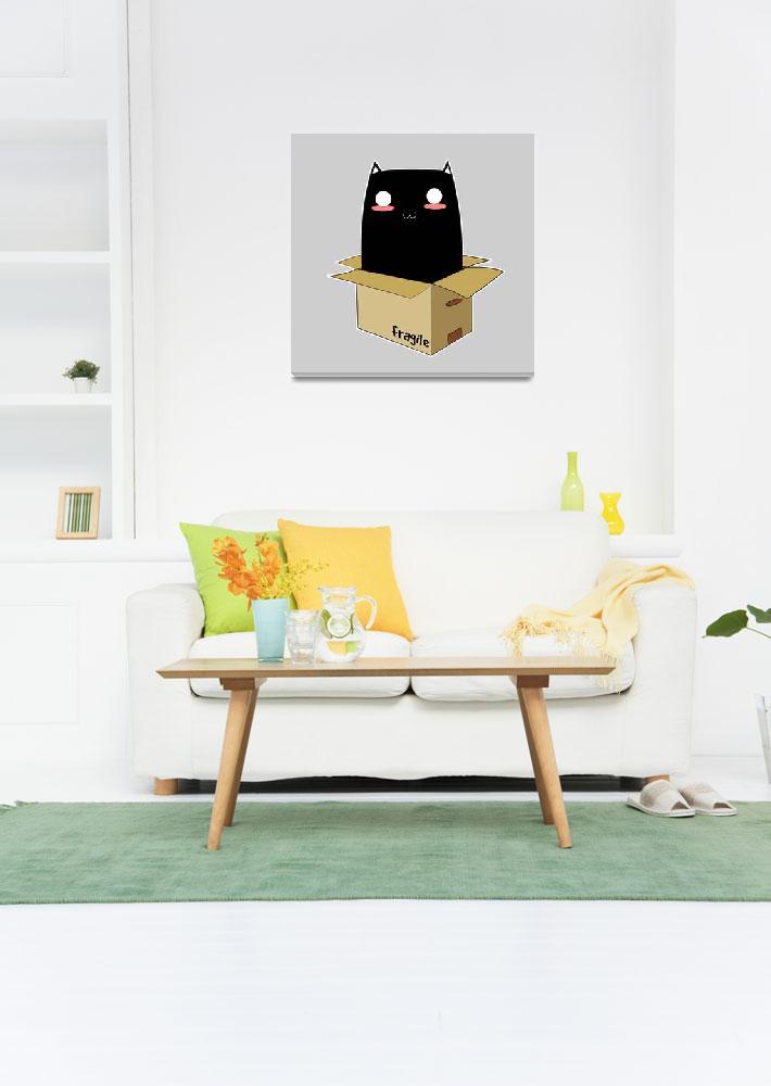"""Black Cat in a Box""  (2017) by Catifornia"