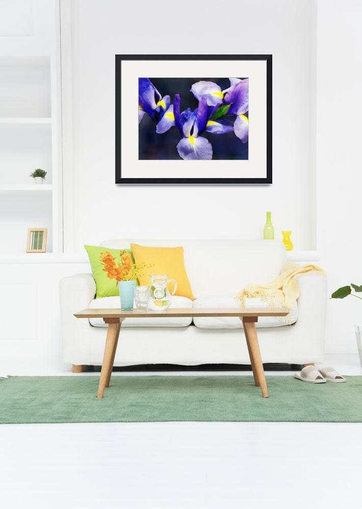 """""""Group of Japanese Irises&quot  (2013) by susansartgallery"""