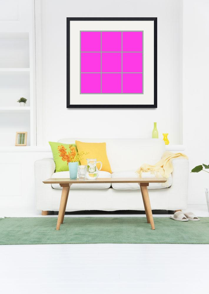 """""""Pink Window 178 Canvas Contemporary Modern&quot  (2010) by Ricardos"""