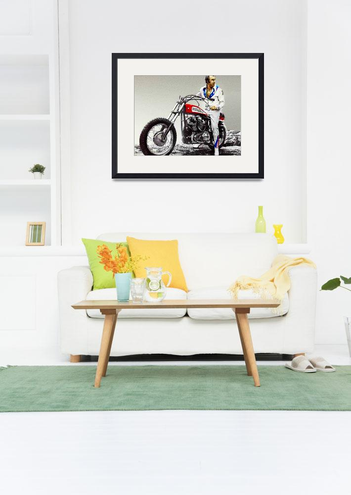 """Evel Knievel Painting Full Color Large&quot  by RubinoFineArt"