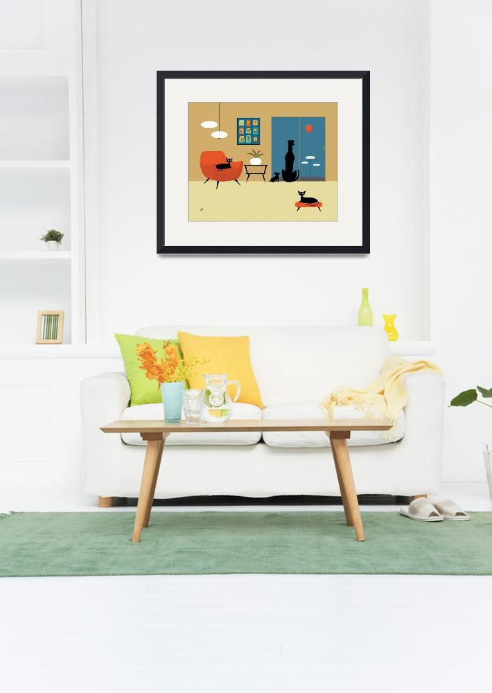 """""""Mid Century Dogs and Cats&quot  (2013) by DMibus"""