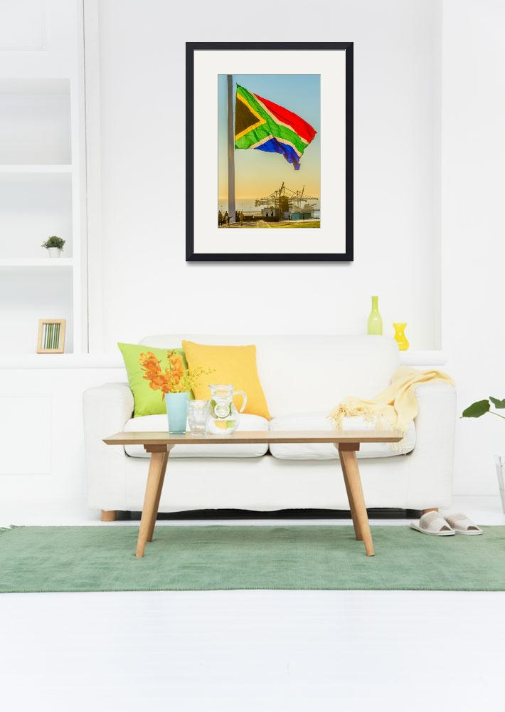 """""""THE FLAG OF SOUTH AFRICA&quot  (2016) by Aenue"""