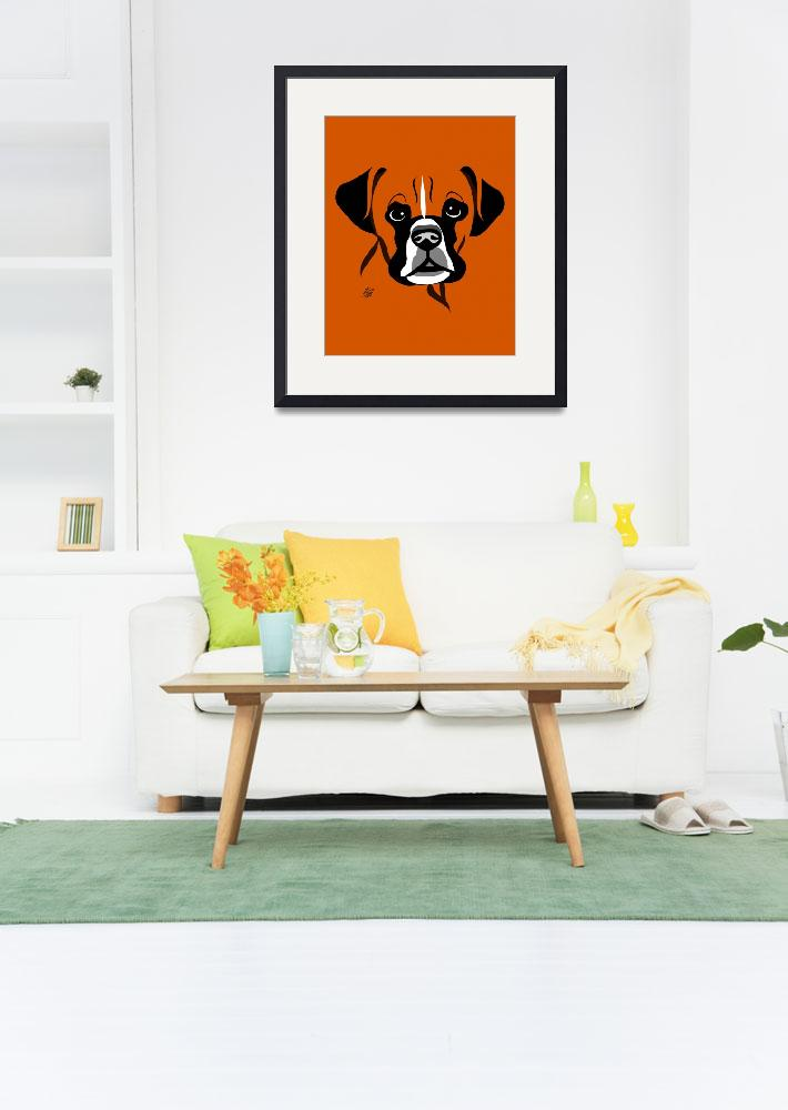 """Stylized Dog Art Of Boxer&quot  by waterart"