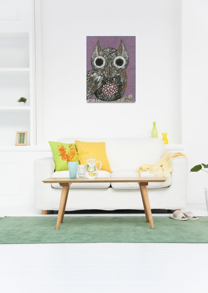 """Owl""  (2017) by MarilynE"