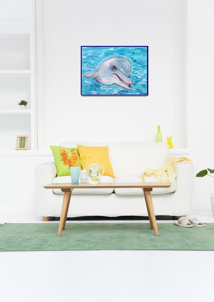 """Dolphin 2""  (2011) by paintingsbygretzky"