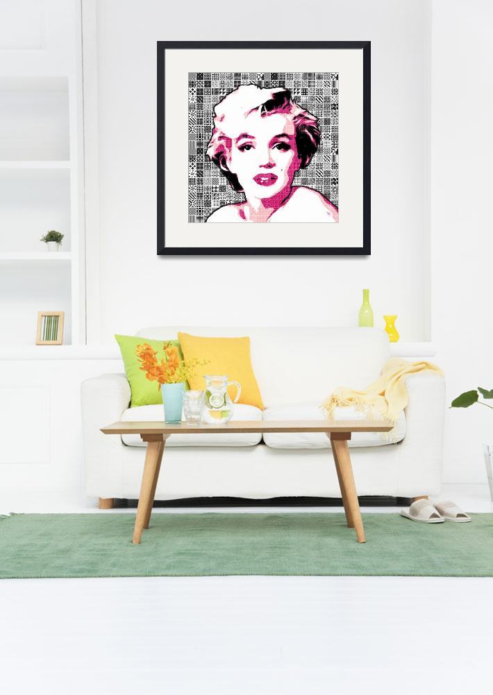 """""""Marilyn Monroe - Pink Lady Too - Pop Art&quot  (2012) by wcsmack"""