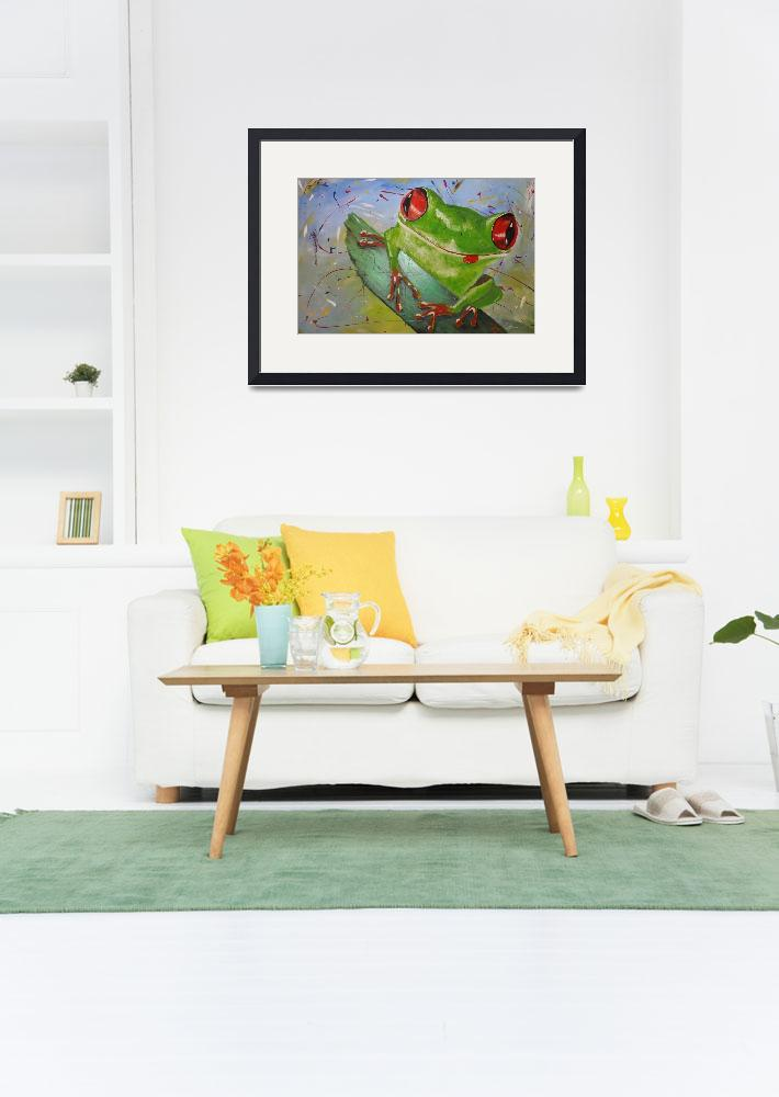 """""""happy frog&quot  (2013) by gallerymay"""