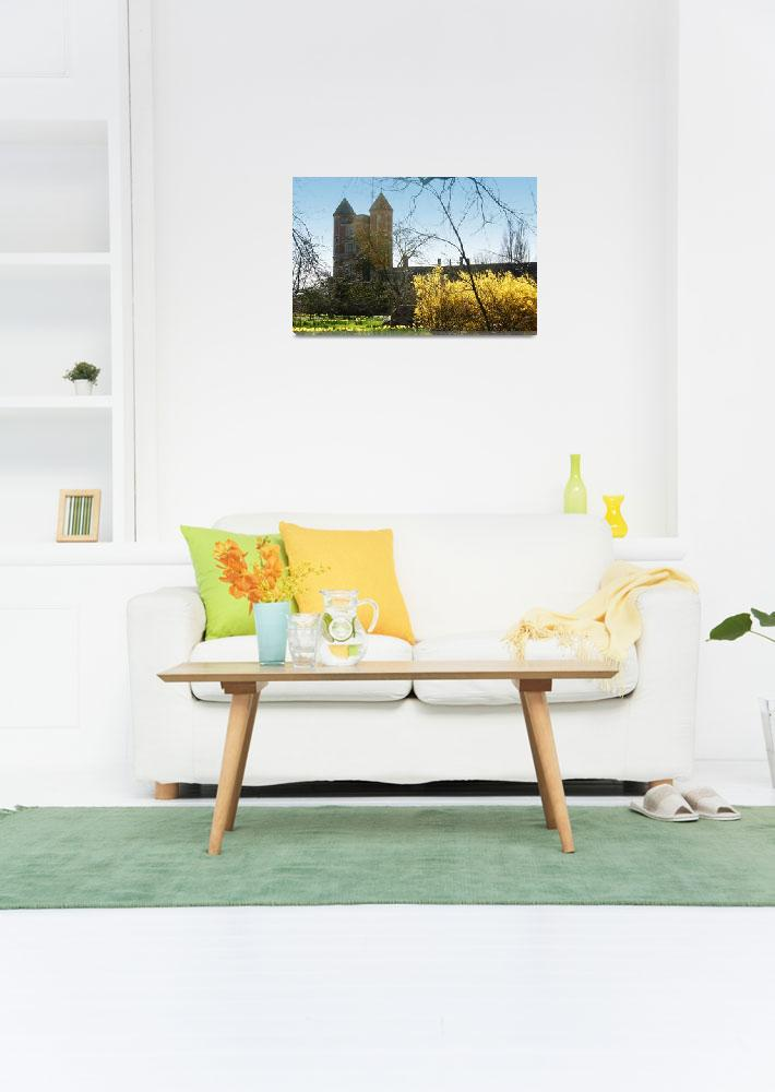 """""""Sissinghurst Castle in the Spring""""  (2010) by andy-coleman"""