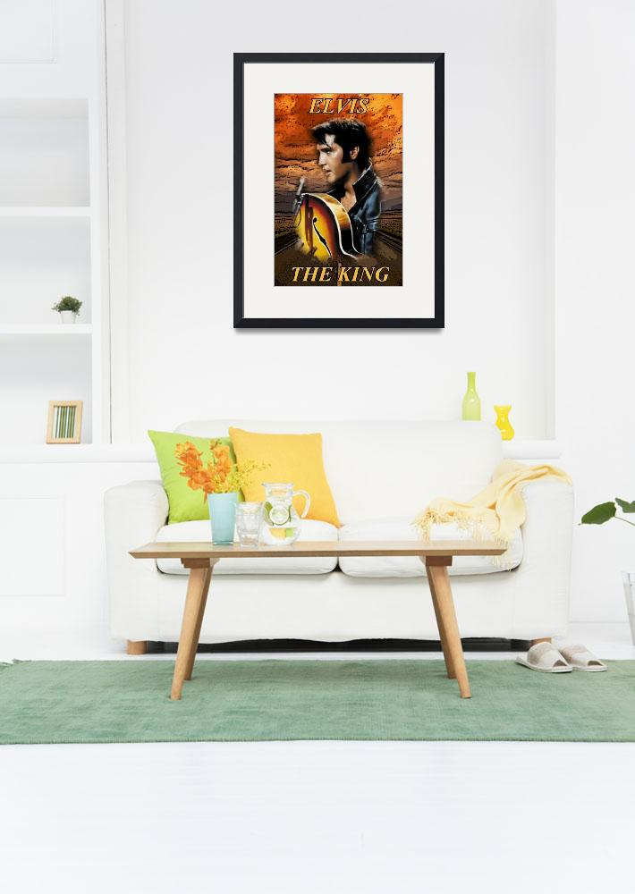 """elvis the king&quot  by photo-design-online"