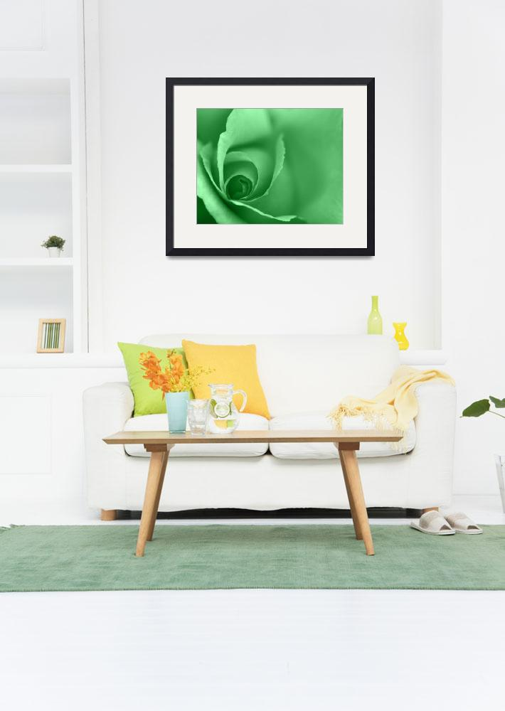 """""""Lime Green Coloured Floral Wall Art&quot  (2012) by NatalieKinnear"""