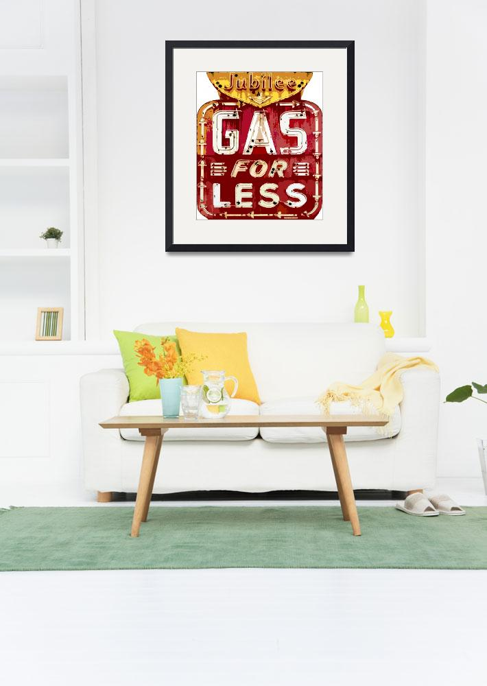 """""""GAS FOR LESS""""  (2011) by DavidLloydGlover"""