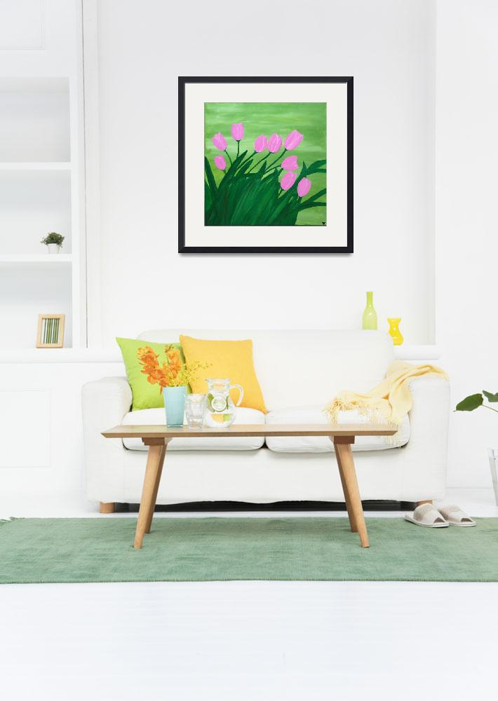 """""""Spring tulips&quot  (2014) by Rachelolynukart"""