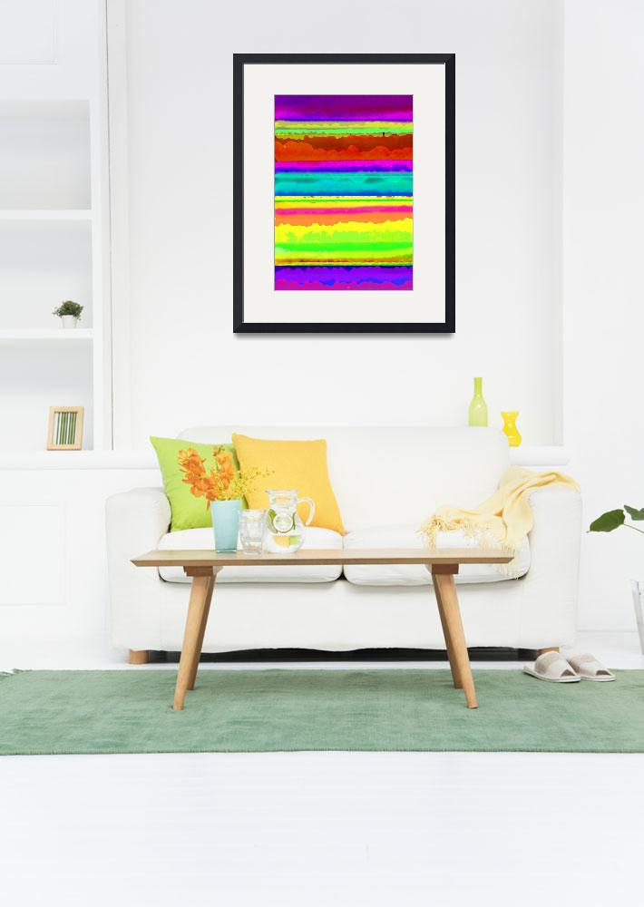 """""""Bright Stripe (digital) by Louisa Knight&quot  by fineartmasters"""