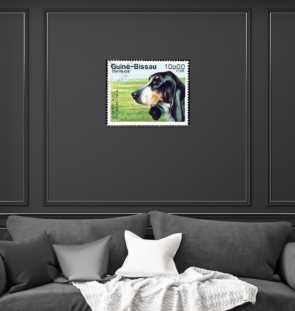 """Grande Azul dog stamp.""  by FernandoBarozza"