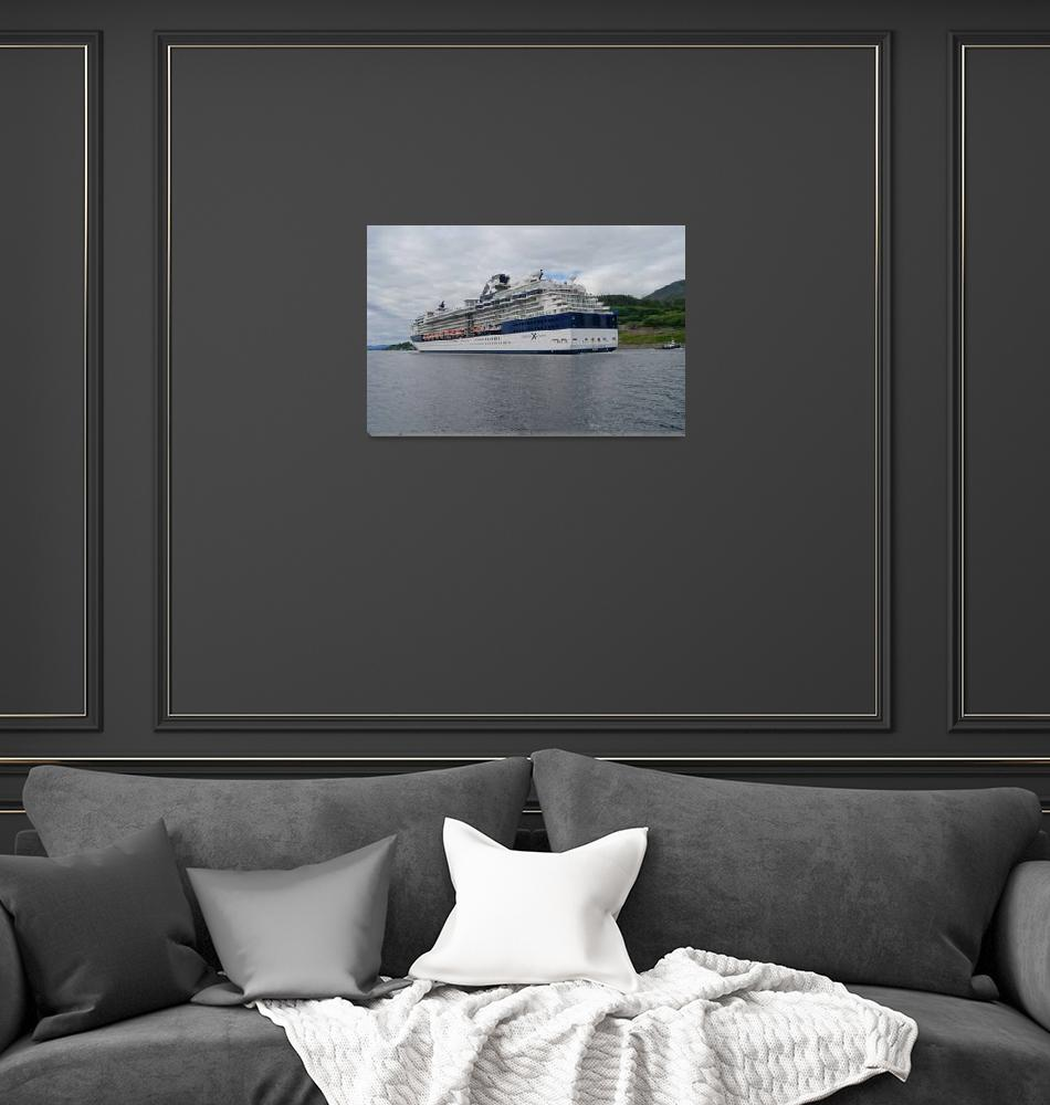 """Celebrity cruise ship leaving""  (2013) by csenterprises"