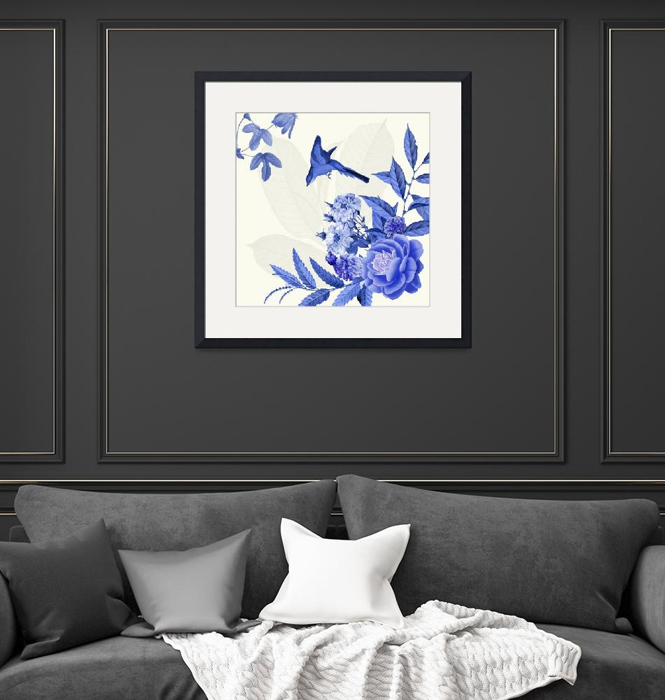 """""""China Flower Blue and white""""  (2015) by BDspace"""
