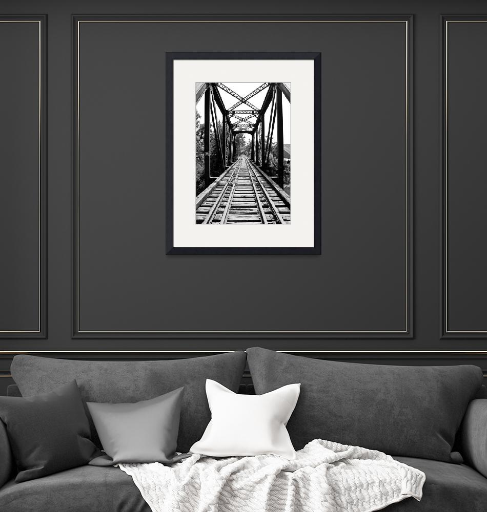 """""""Black and White Historical Bridge""""  by Kilclinephotography"""
