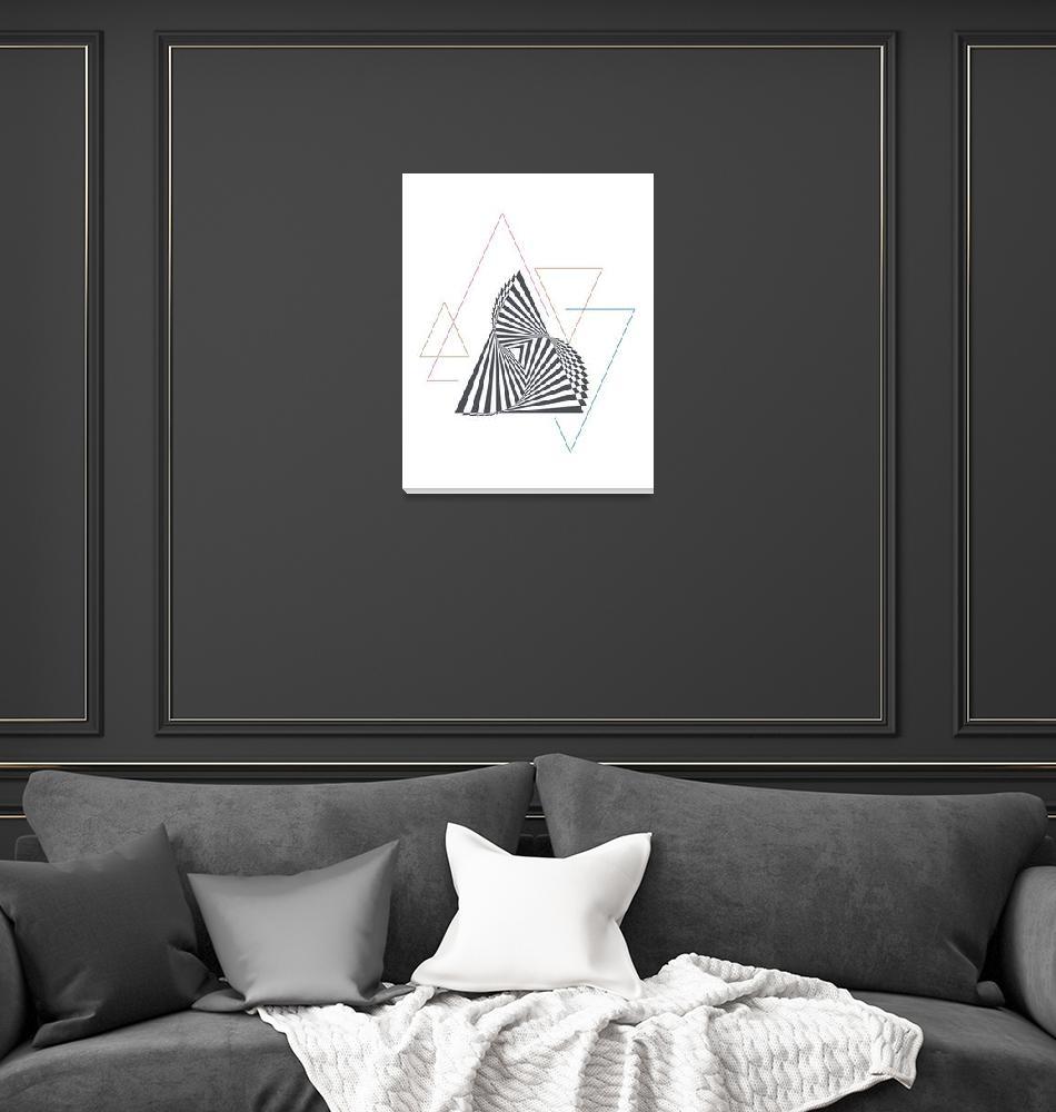 """""""Triangle Op Art""""  (2016) by taylansoyturk"""